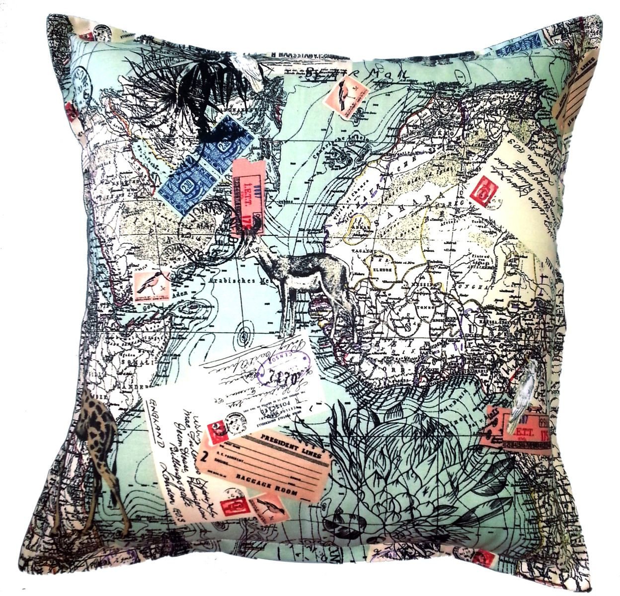 Africa Map Scatter Cushion