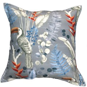 Grey Toucan Scatter Cushion